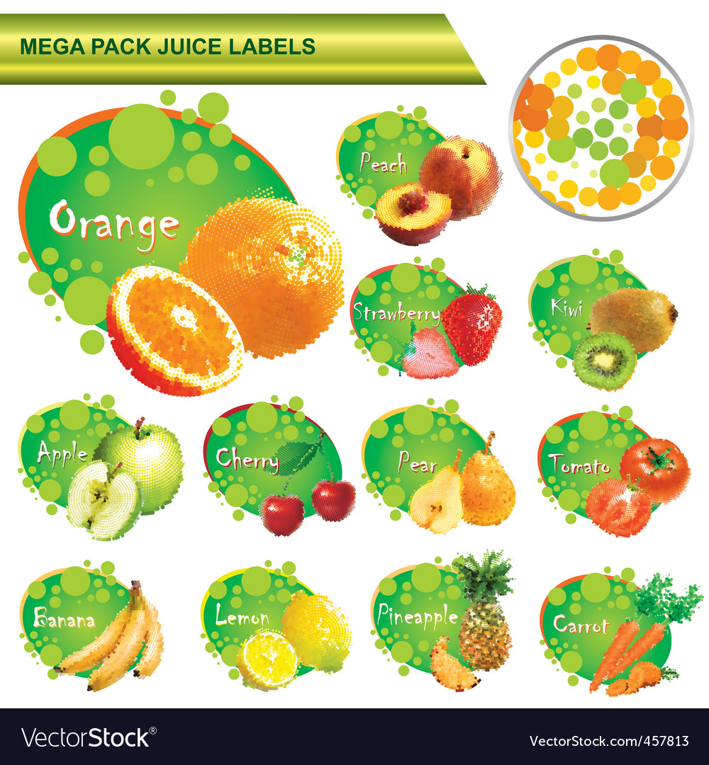 Juice labels mega pack vector | Price: 3 Credit (USD $3)