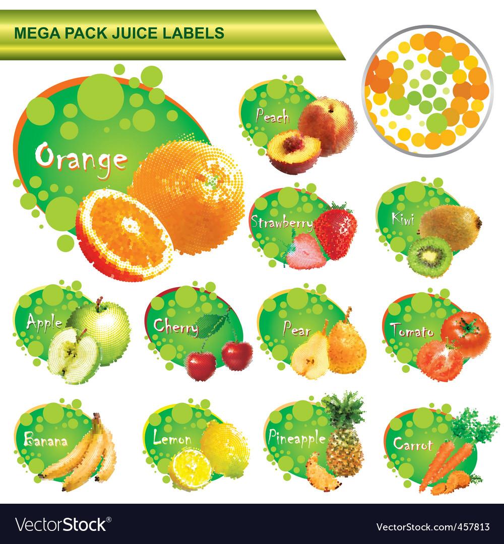 Juice labels mega pack vector | Price: 3 Credit (USD $3)