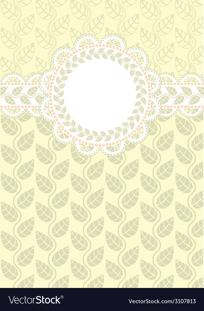 Lace frame on a light background vector | Price: 1 Credit (USD $1)