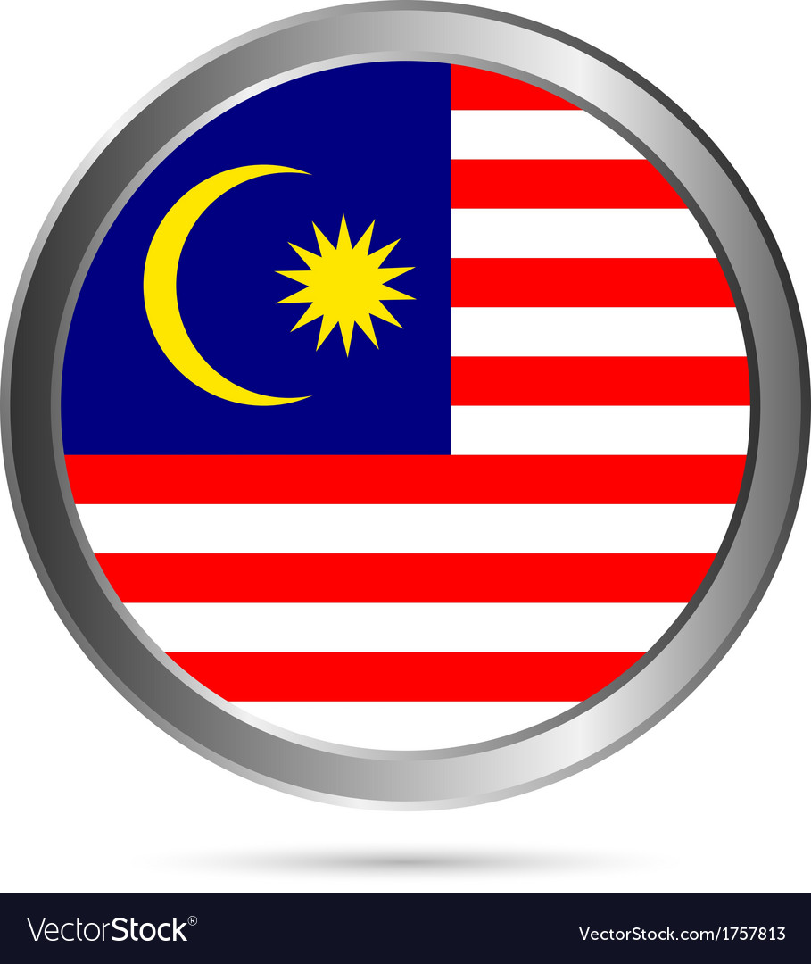 Malaysia flag button vector | Price: 1 Credit (USD $1)