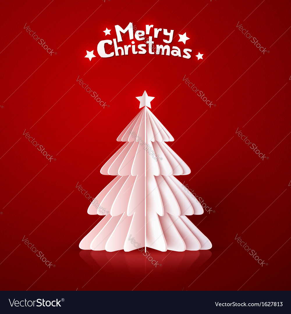 Origami paper christmas tree vector | Price: 1 Credit (USD $1)