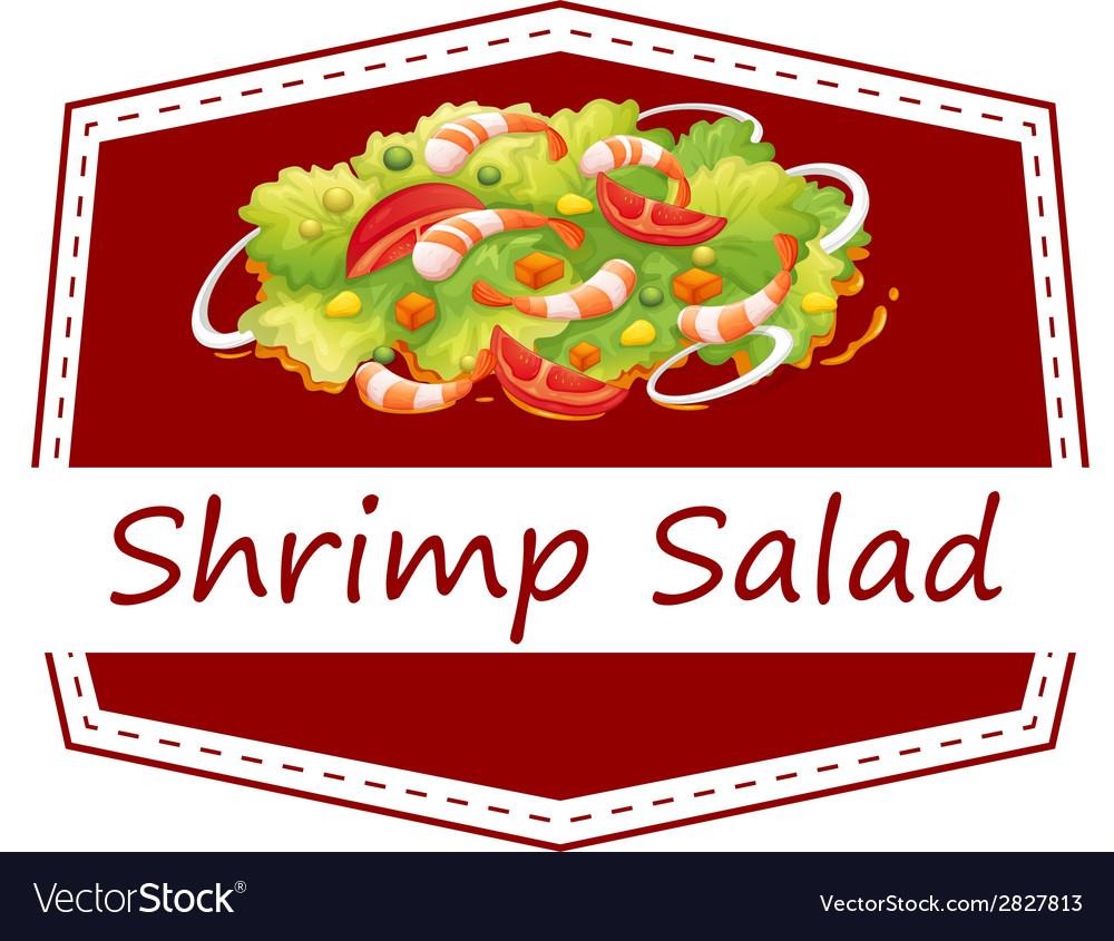 Shrimp salad vector | Price: 1 Credit (USD $1)