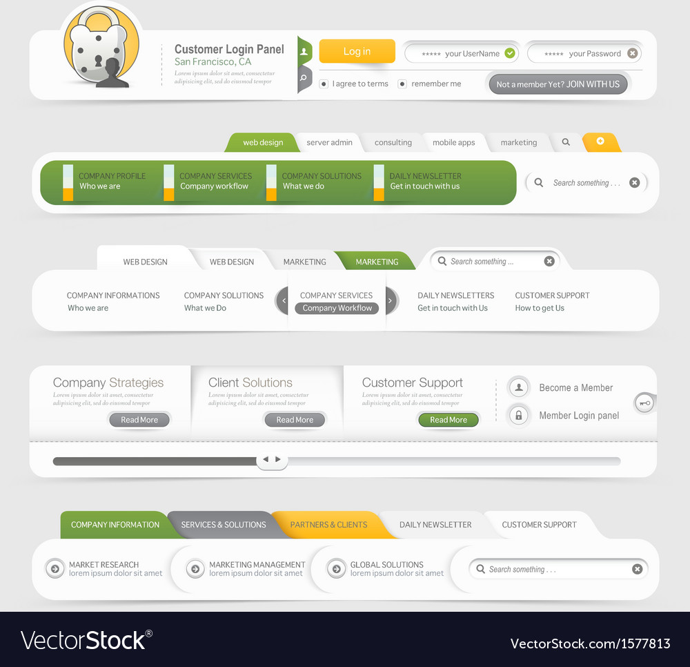 Website template infographic design menu vector | Price: 1 Credit (USD $1)