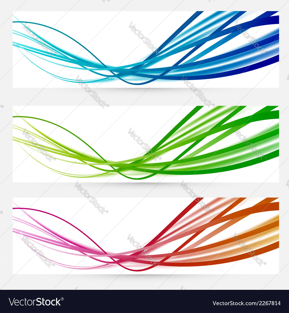 Abstract modern bright colorful banners vector | Price: 1 Credit (USD $1)