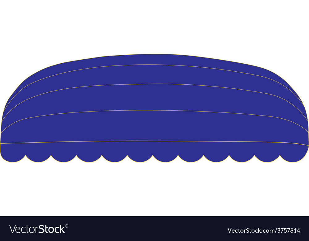 Blue awning vector | Price: 1 Credit (USD $1)