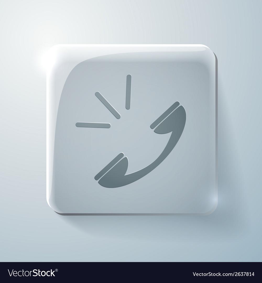 Call glass square icon vector | Price: 1 Credit (USD $1)