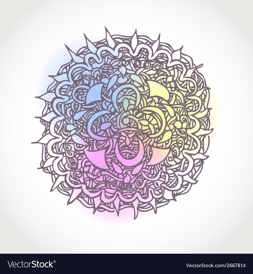 Decorative hand drawn circle shape design abstract vector   Price: 1 Credit (USD $1)