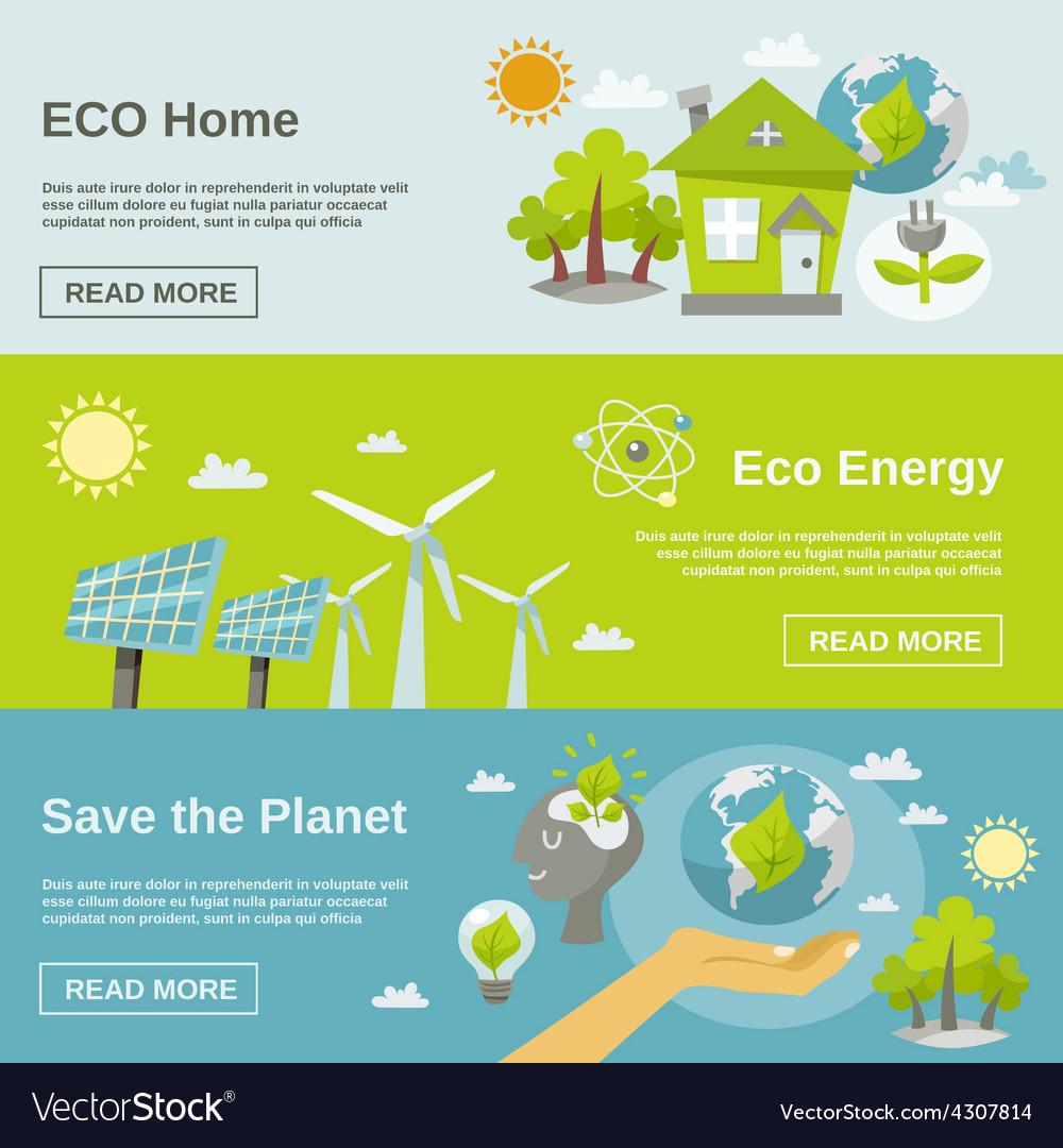 Eco energy banner vector | Price: 1 Credit (USD $1)