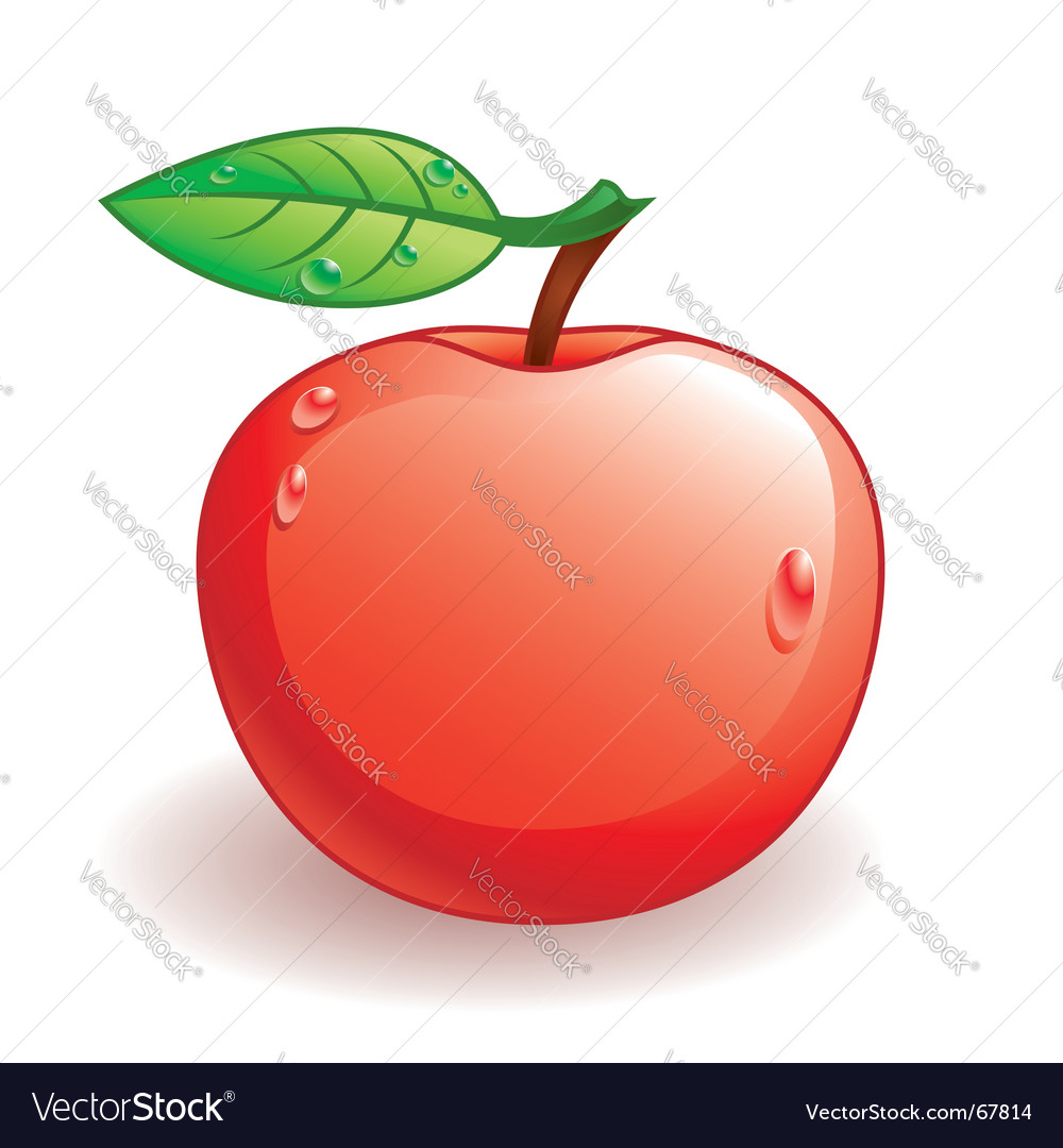 Glossy apple vector | Price: 1 Credit (USD $1)