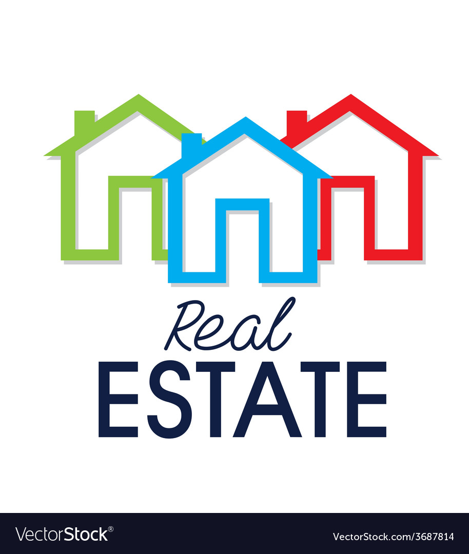 Real estate over white background vector   Price: 1 Credit (USD $1)