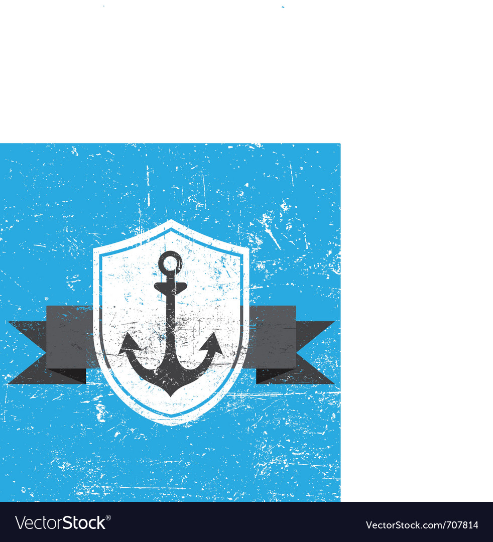Retro vintage anchor vector | Price: 1 Credit (USD $1)