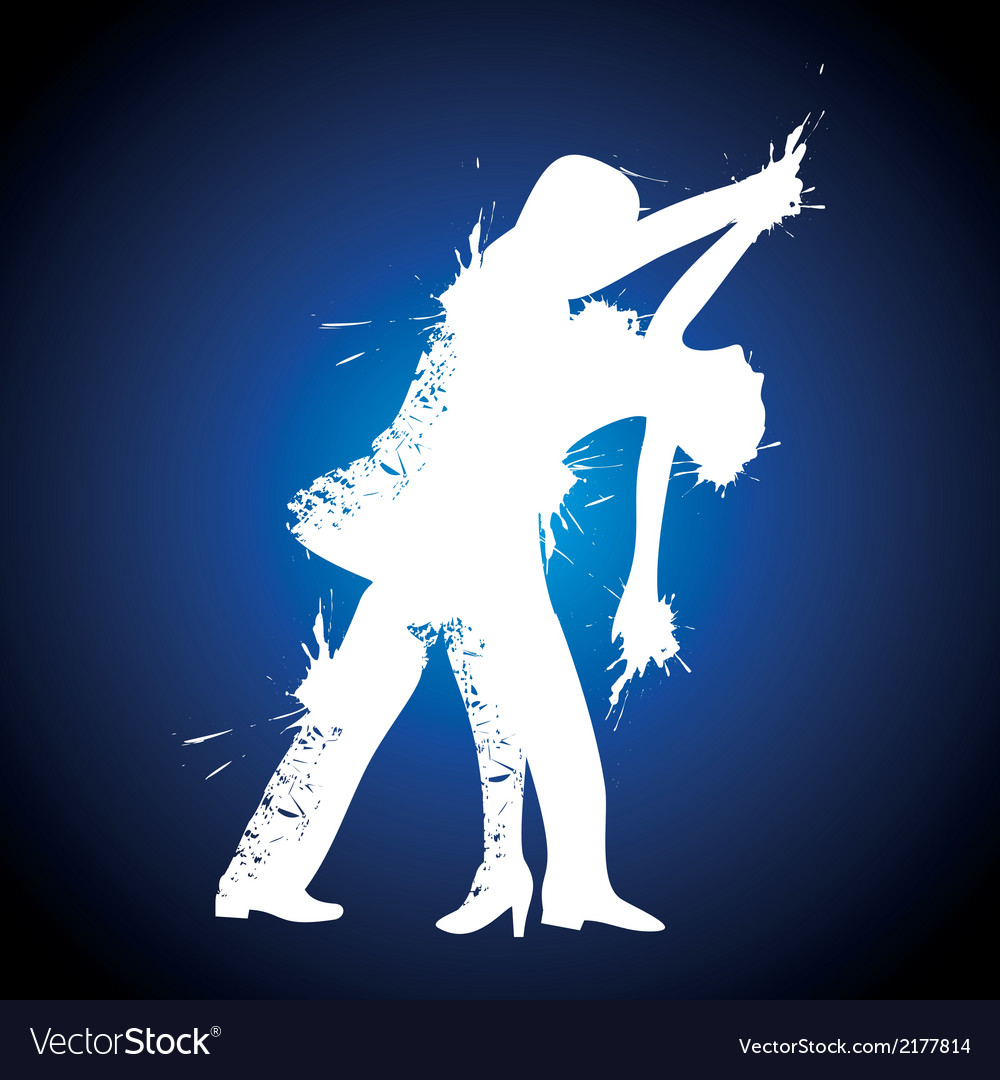 Salsa couple dancer vector | Price: 1 Credit (USD $1)