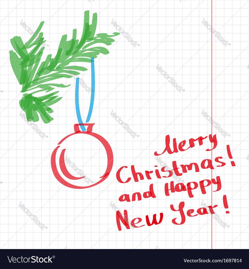Sketchy christmas tree vector | Price: 1 Credit (USD $1)