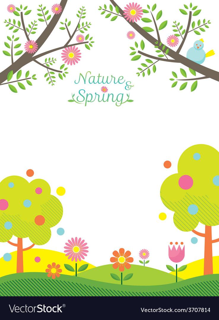Spring season background vector | Price: 1 Credit (USD $1)