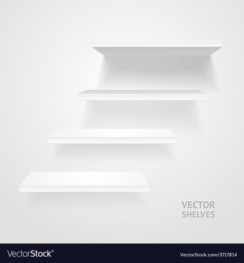 White shelves vector | Price: 1 Credit (USD $1)