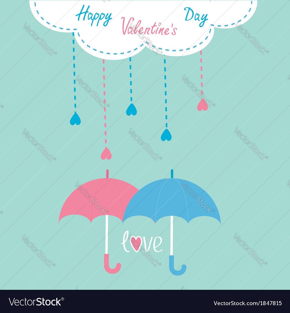 Cloud with hanging rain drops valentines day vector | Price: 1 Credit (USD $1)
