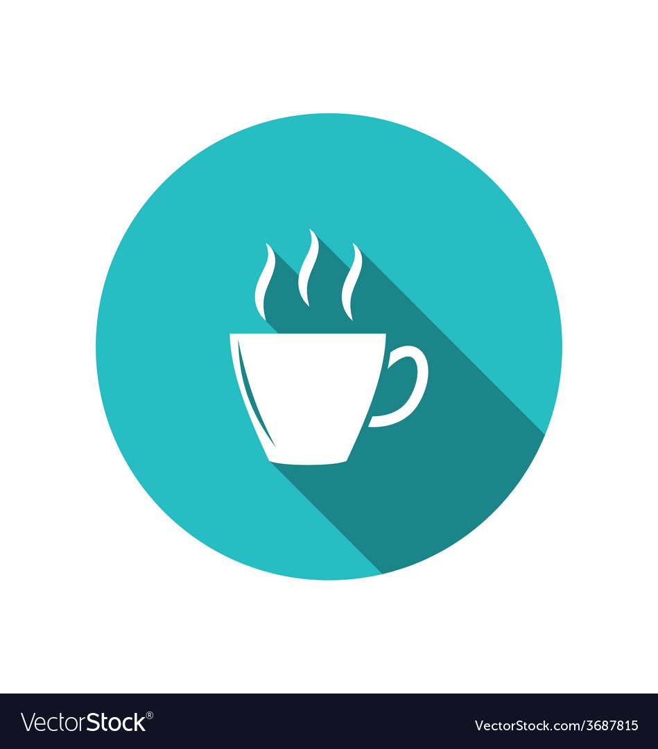 Coffee or tea cup trendy flat minimal style - vector | Price: 1 Credit (USD $1)