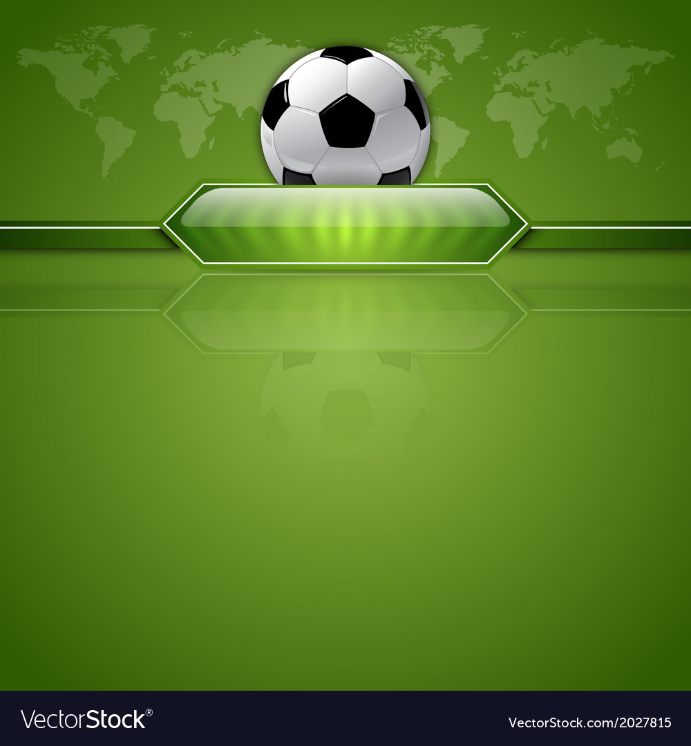 Football score green world vector | Price: 1 Credit (USD $1)