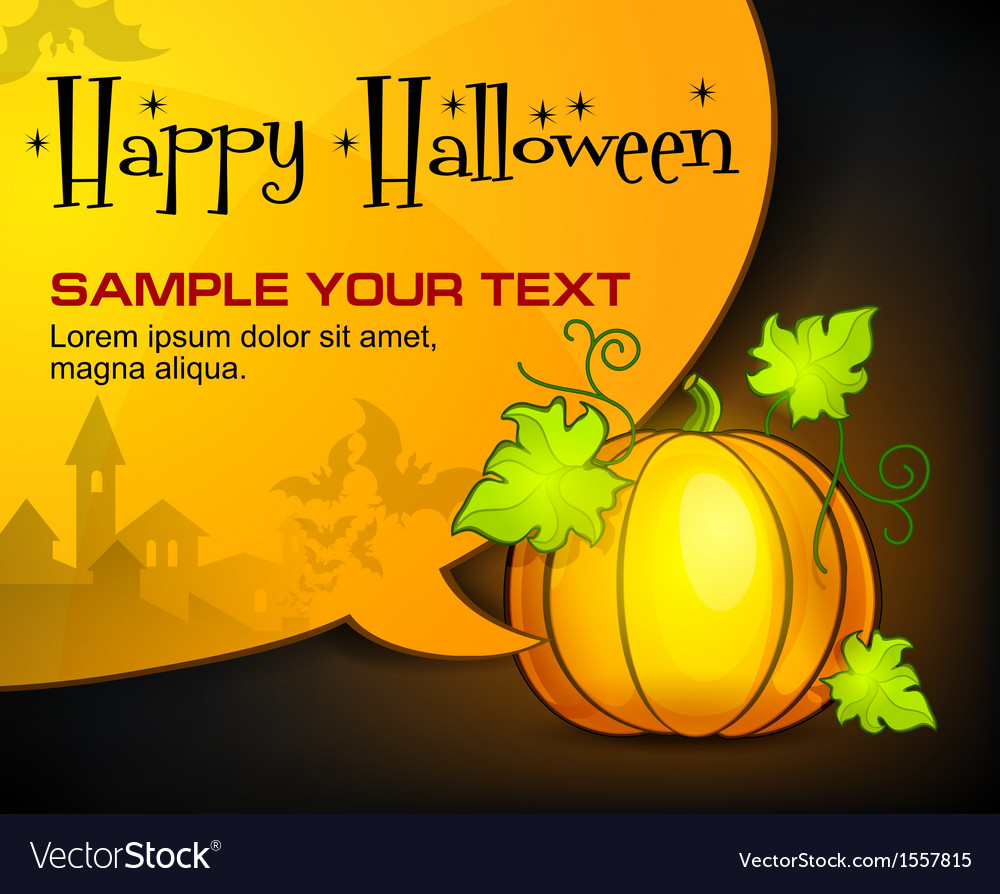 Halloween pumpkin  speech vector | Price: 1 Credit (USD $1)