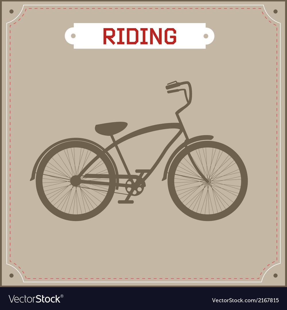 Hipster bike retro vector | Price: 1 Credit (USD $1)