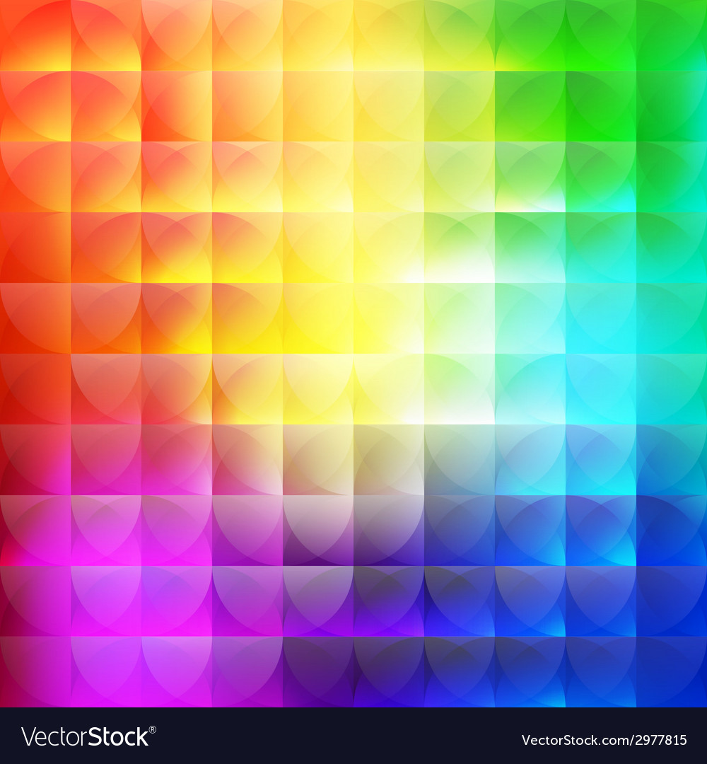 Multicolor abstract background of semicircles vector | Price: 1 Credit (USD $1)