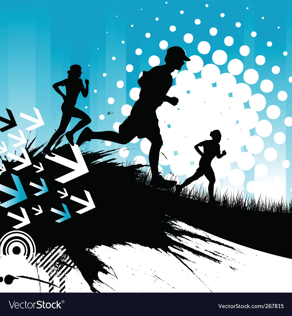 Running people vector | Price: 1 Credit (USD $1)