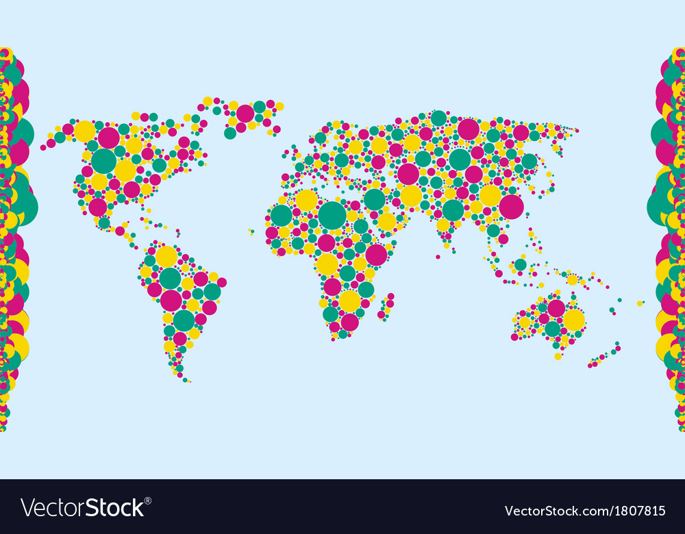 World bubbles vector | Price: 1 Credit (USD $1)