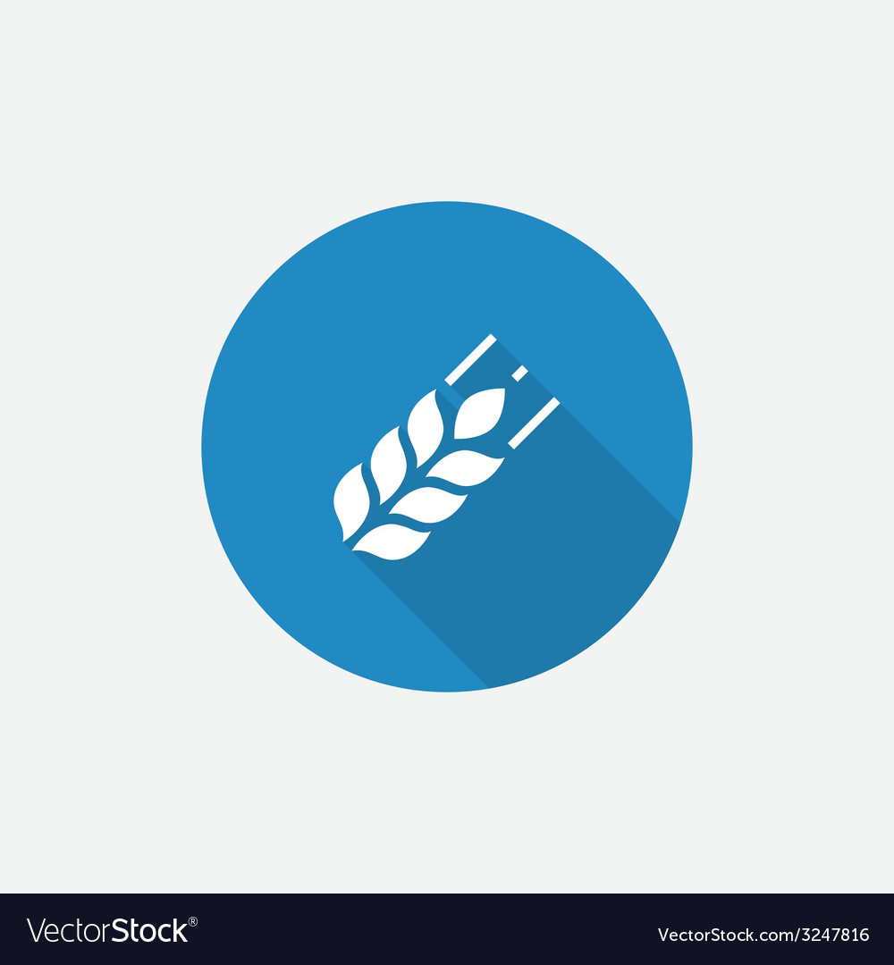 Agriculture flat blue simple icon with long shadow vector | Price: 1 Credit (USD $1)