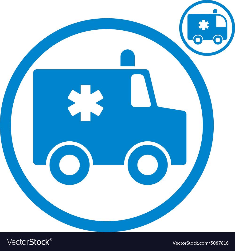 Ambulance emergency car icon vector | Price: 1 Credit (USD $1)