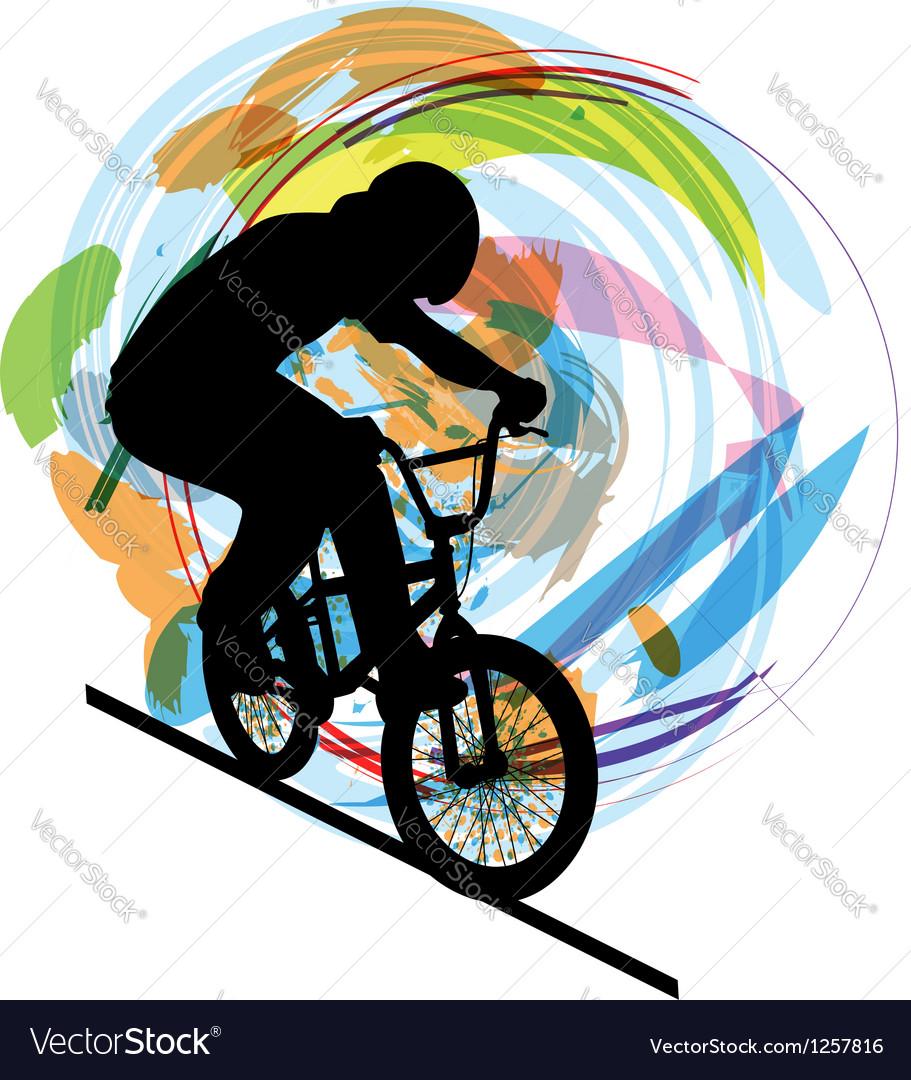 Biker in action vector   Price: 1 Credit (USD $1)