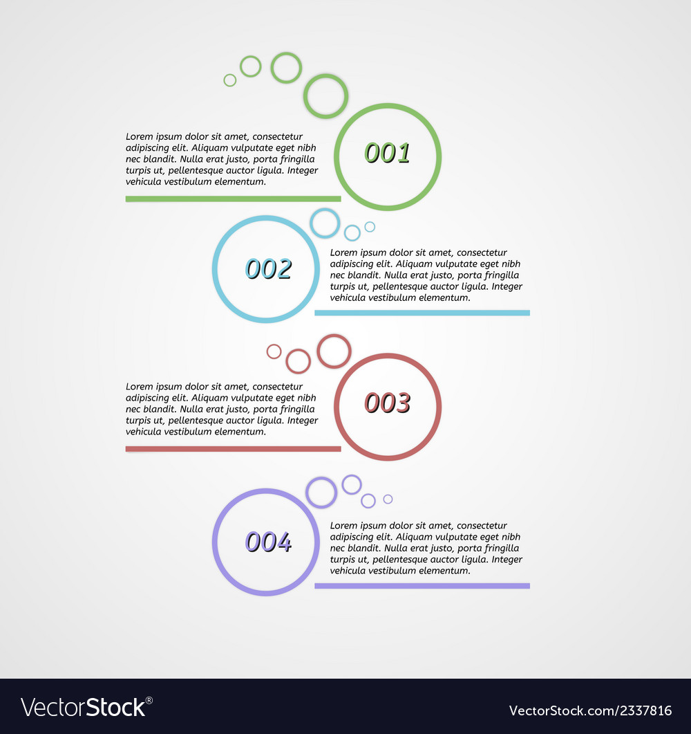 Four steps infographics vector | Price: 1 Credit (USD $1)