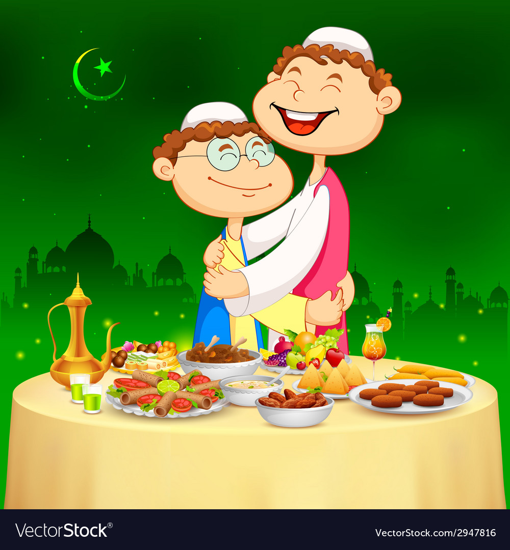 People hugging and wishing happy bakrid vector | Price: 3 Credit (USD $3)