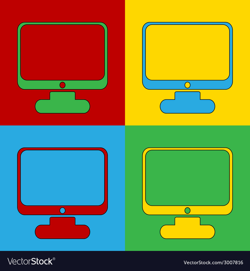 Pop art computer vector | Price: 1 Credit (USD $1)