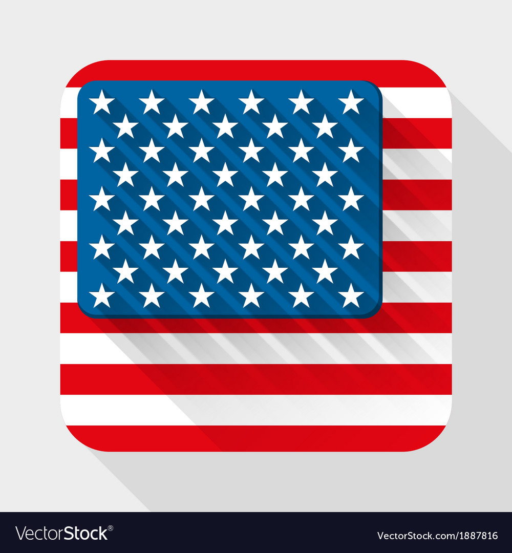 Simple flat icon with usa flag vector   Price: 1 Credit (USD $1)