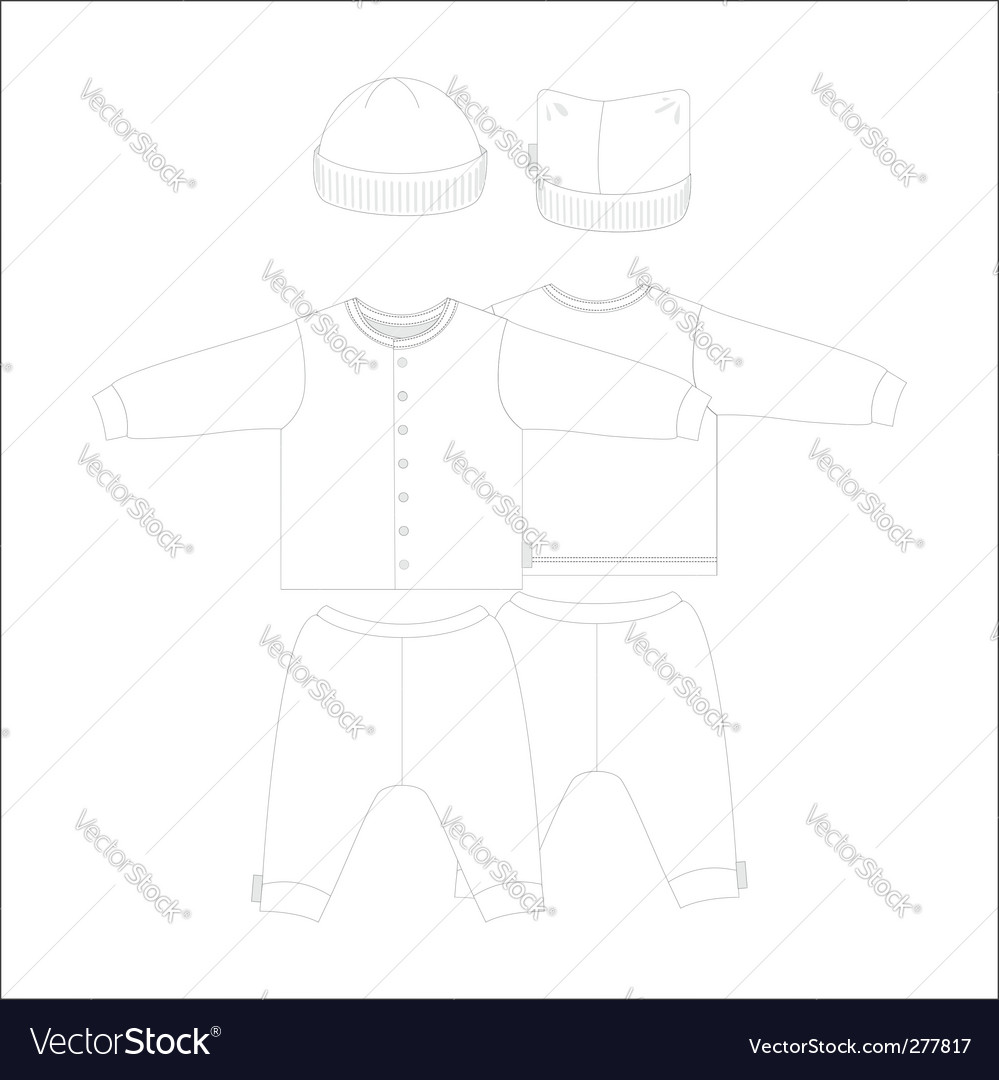 Baby clothes vector | Price: 1 Credit (USD $1)