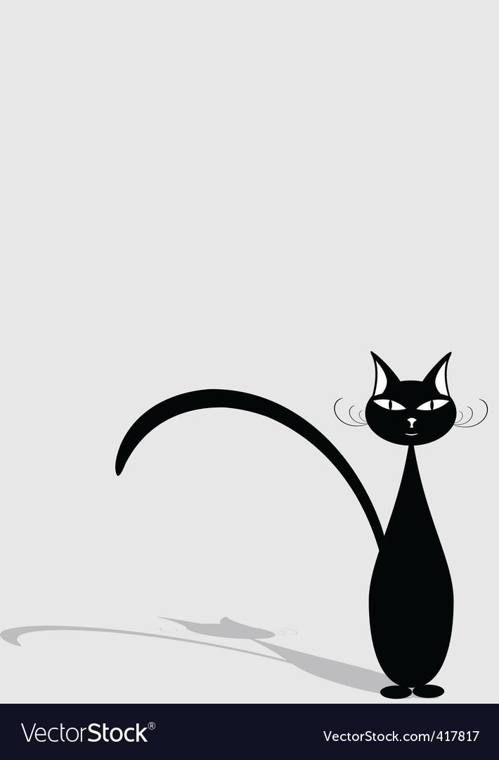 Black cat vector | Price: 1 Credit (USD $1)
