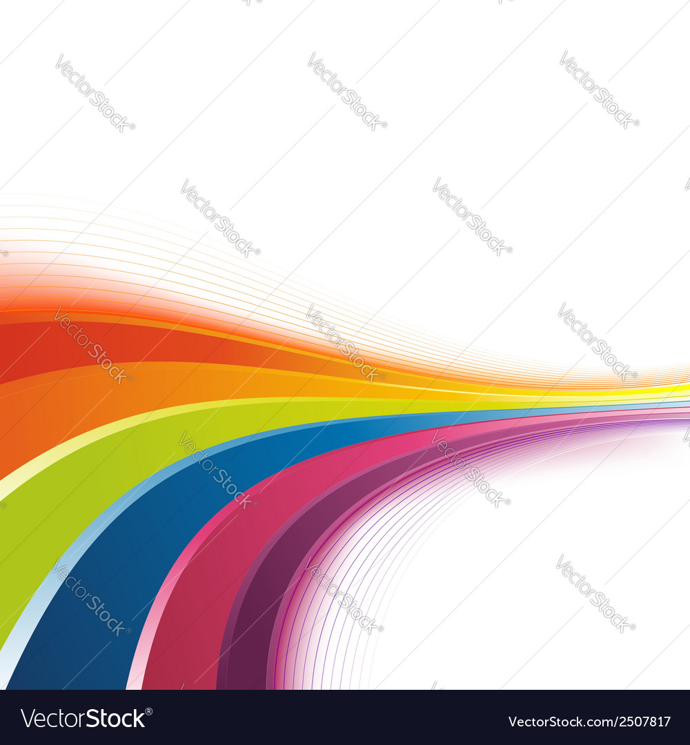Bright rainbow swoosh lines background vector | Price: 1 Credit (USD $1)