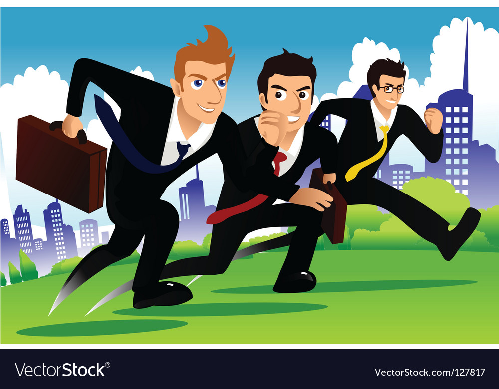 Business run vector | Price: 1 Credit (USD $1)