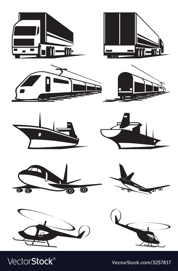 Cargo transportation in perspective vector | Price: 1 Credit (USD $1)