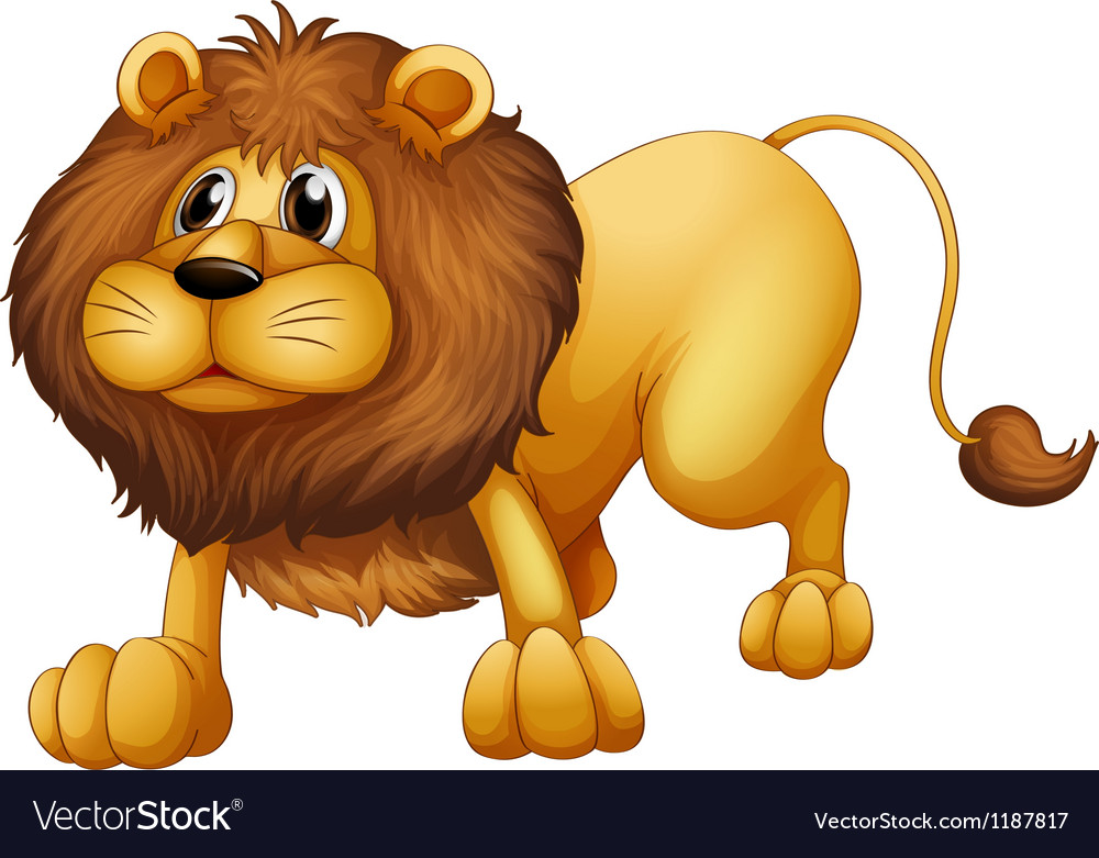 Cartoon lion vector | Price: 1 Credit (USD $1)