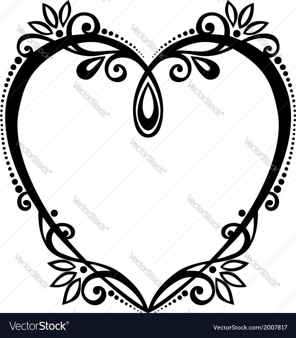 Deco floral heart vector | Price: 1 Credit (USD $1)