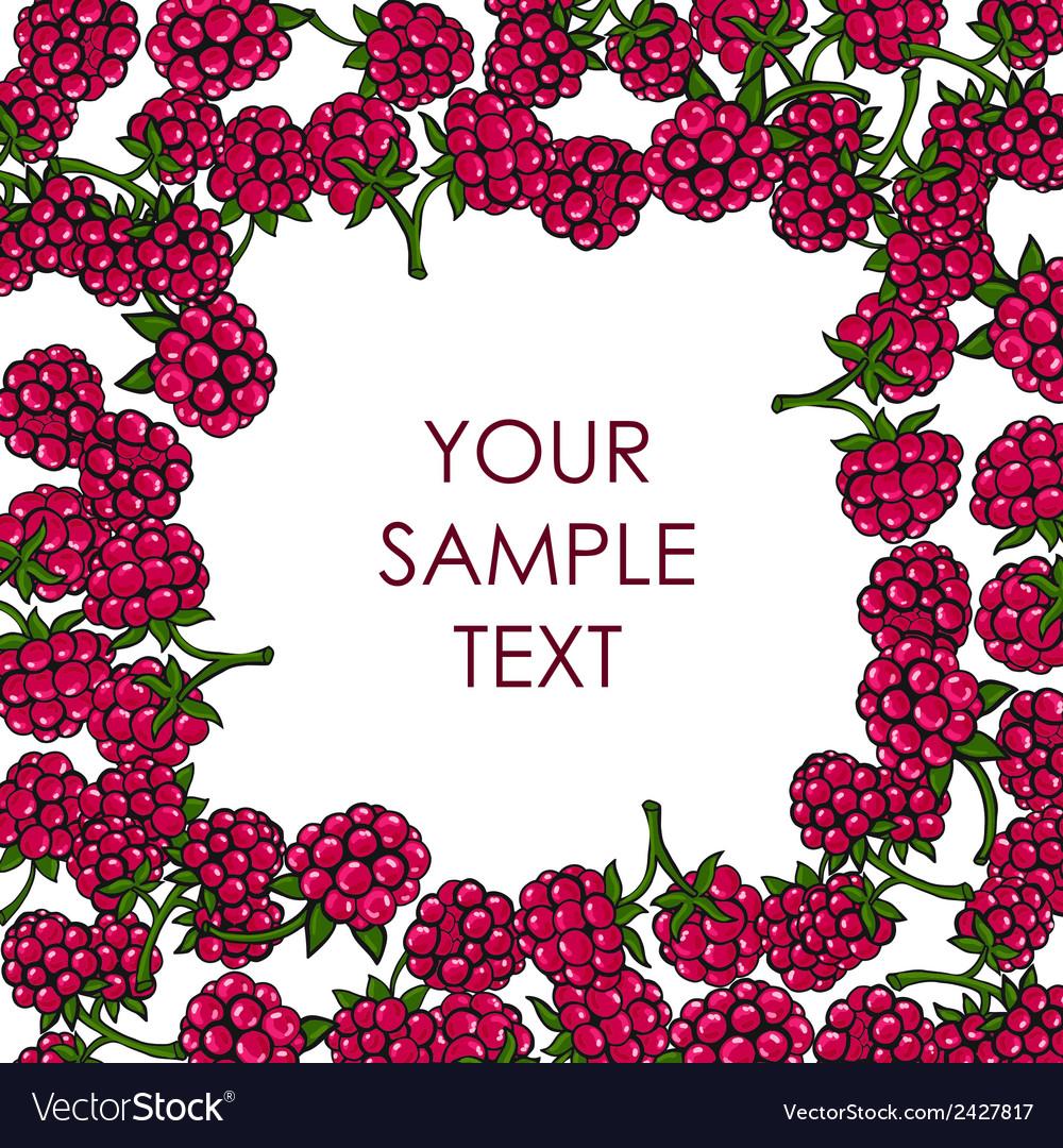 Frame of raspberries vector   Price: 1 Credit (USD $1)