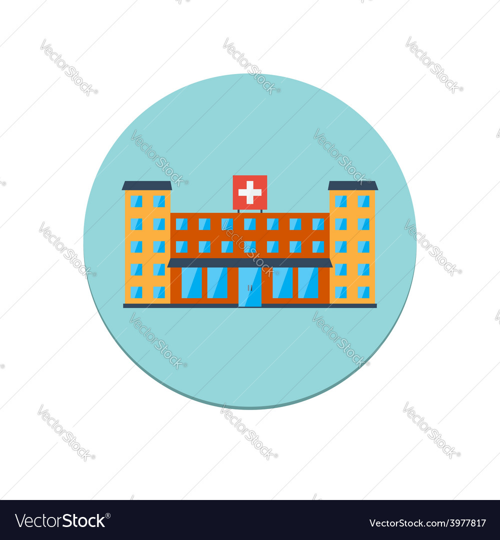 Hospital building icon vector | Price: 1 Credit (USD $1)