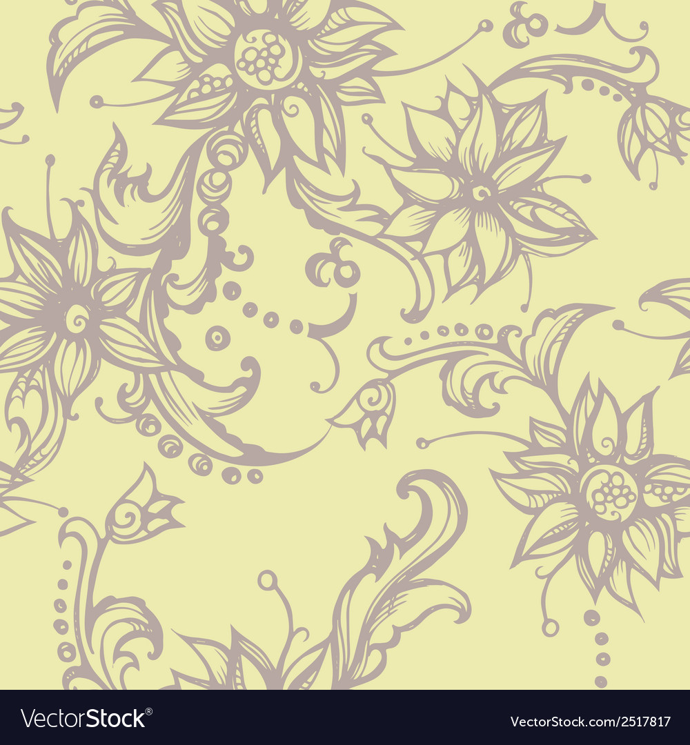 Seamless with decorative flower vector | Price: 1 Credit (USD $1)