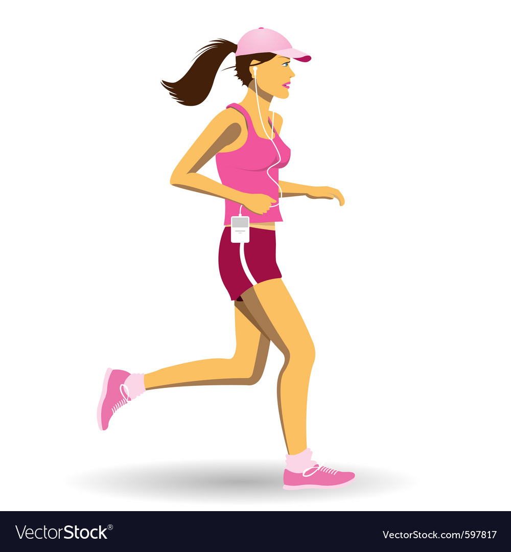 Woman jogging vector | Price: 3 Credit (USD $3)