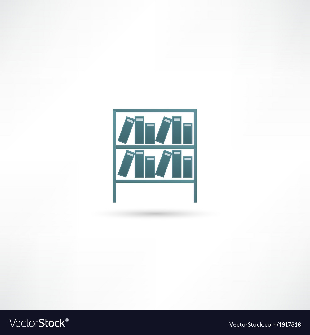 Books on the shelves simply retro vector | Price: 1 Credit (USD $1)