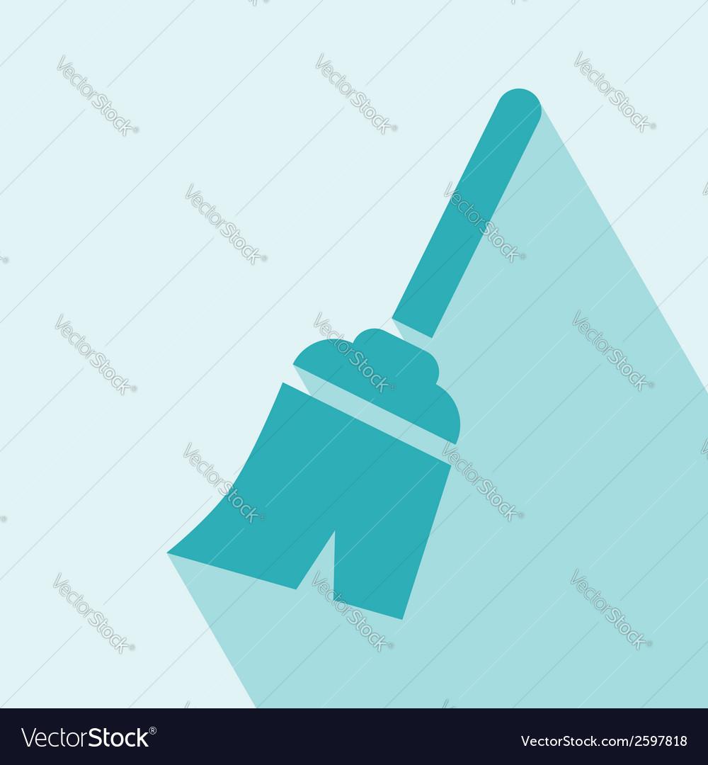 Broom icon vector | Price: 1 Credit (USD $1)