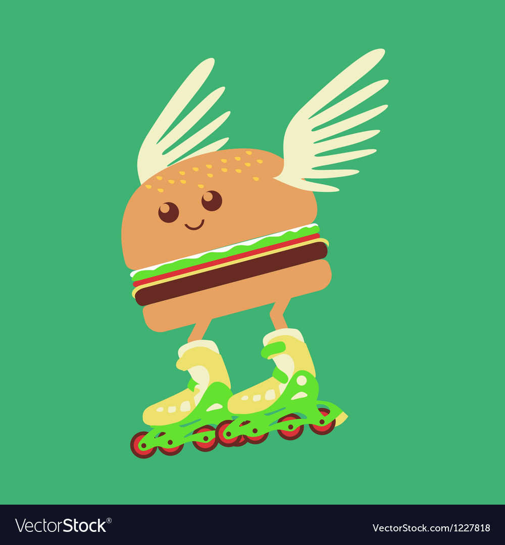 Burger hot delivery vector | Price: 1 Credit (USD $1)