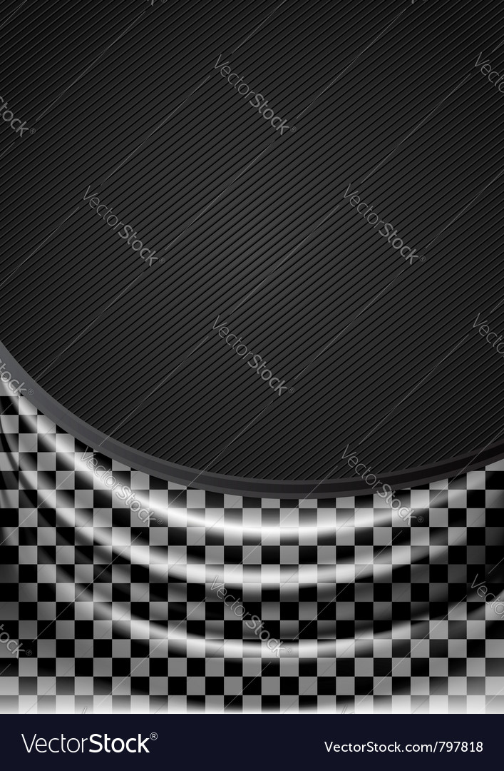 Curtain silk tissue on checkered background vector | Price: 1 Credit (USD $1)