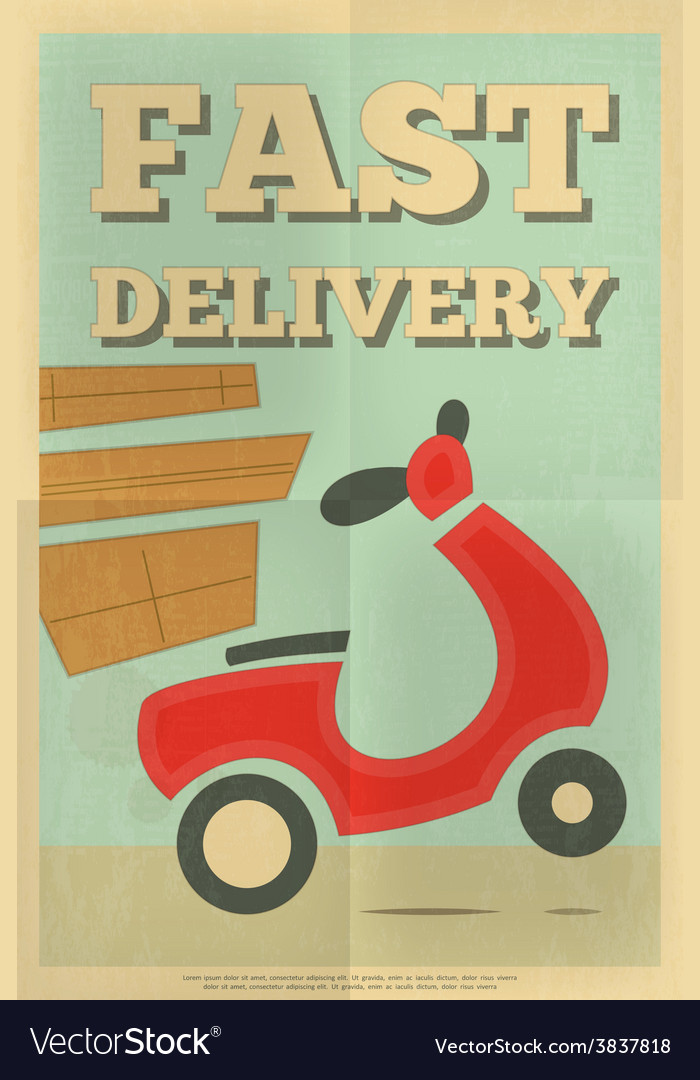 Delivery poster vector | Price: 1 Credit (USD $1)